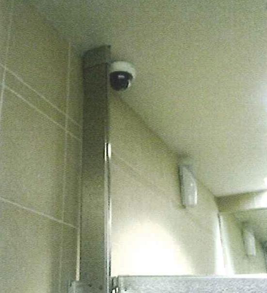 Iowa City Public Library Camera in Bathroom