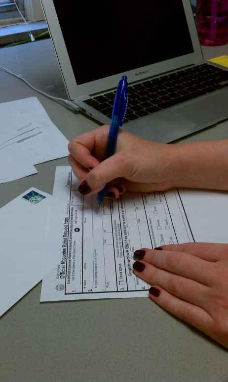 Absentee ballot form